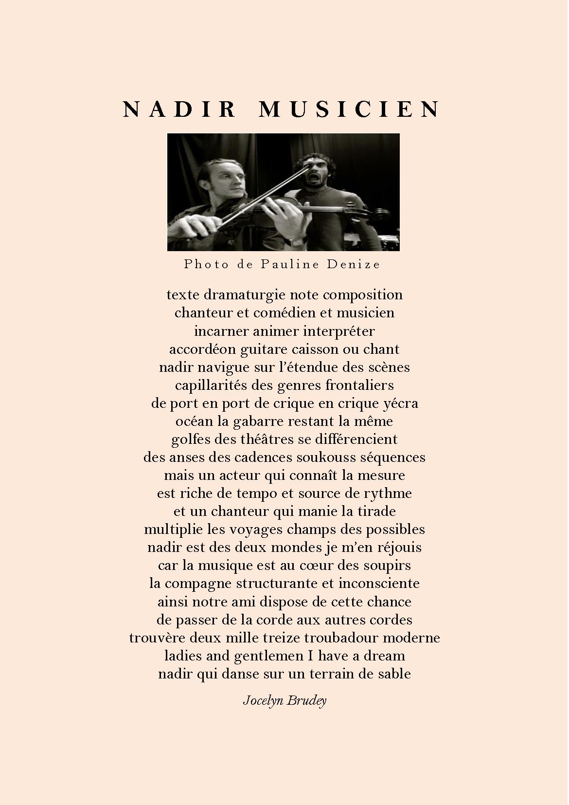 Nadir musicien jocelyn brudey juillet 2013