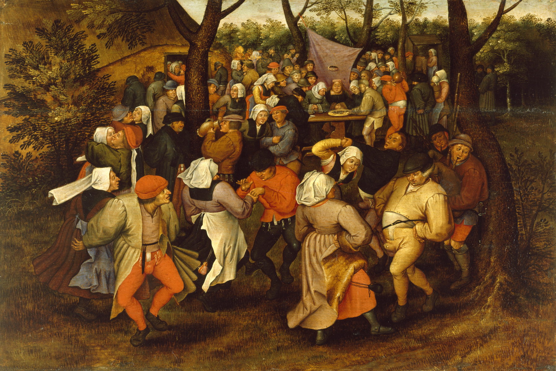 Pieter_Bruegel_II_-_Peasant_Wedding_Dance_-_Walters_37364