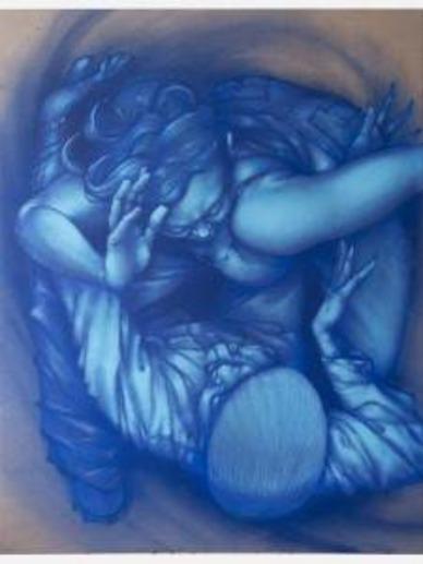 « Syncopated Symbiosis », 2016.  Technique mixte sur toile, 180 x 140 cm