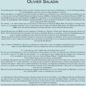 Olivier Saladin, acteur, scénariste mais aussi réalisateur