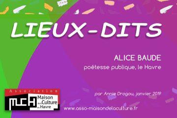 LIEUX-DITS Alice Baude, poétesse publique