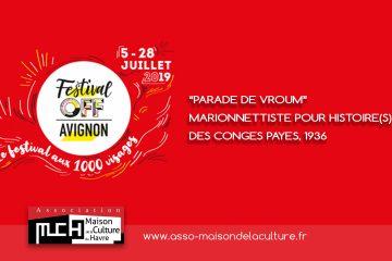 AVIGNON 2019 – Festival OFF – PARADE de VROUM, marionnettiste