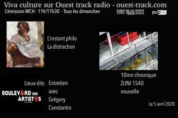 VivaCulture  /    L'instant philo    /   Emission du 5 avril 2020   /    Thème : La distraction
