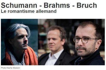 Schumann, Brahms, Bruch  – Ensemble Contraste (annulé)
