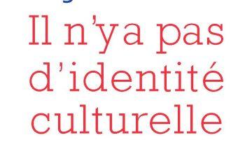 « Il n'y a pas d'identité culturelle »
