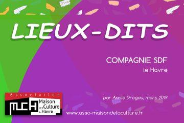 LIEUX-DITS – Compagnie SDF